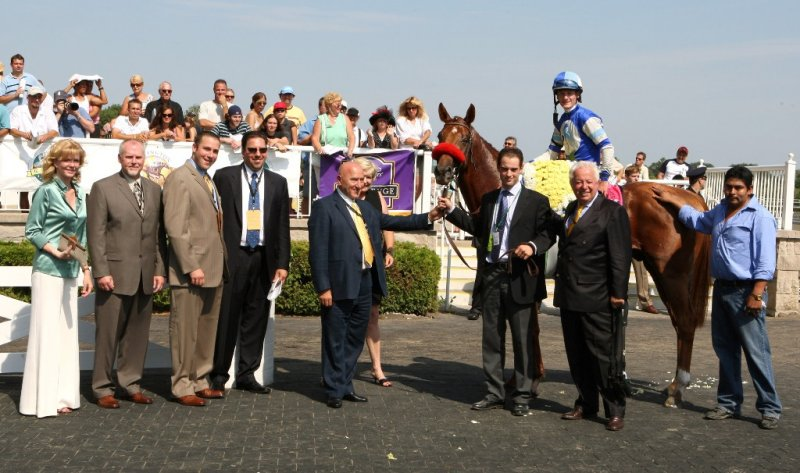 Winners Circle for the G1 Secreatariat Stakes with SHAMDINAN