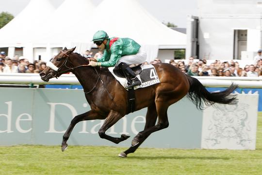 SARAFINA, Champion 3yo Filly, Winning the G1 Prix de Diane Courtesy APRH